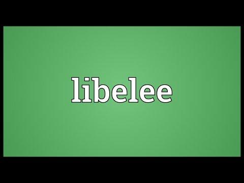 Header of libelee