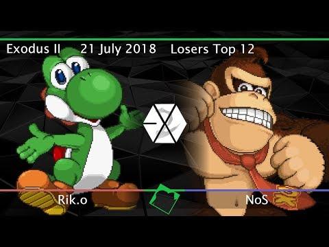 Exodus II - Rik.o (Yoshi) vs NoS (Donkey Kong) - SSF2 Beta Losers Top 12