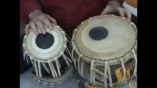 White India  - Tabla Lesson -11 - How to play  Ektaal Theka in vilambit tempo
