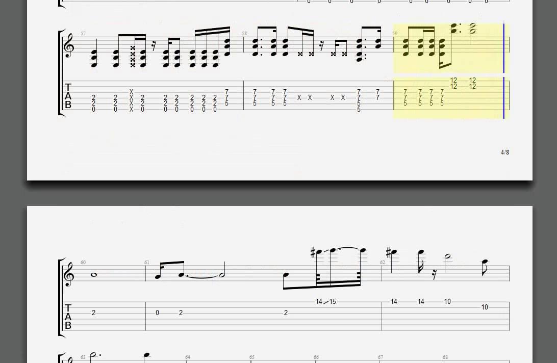 Metallica Turn The Page Kirk guitar tablature - YouTube