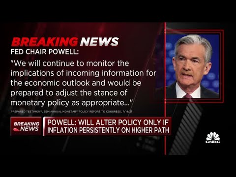 Fed Chair Jerome Powell: Will alter policy only if inflation persistently on higher path