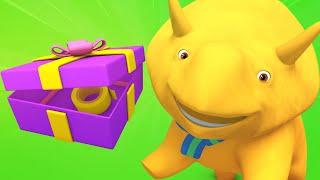 Обучающий мультфильм -  ЖЕНСКИЙ ДЕНЬ - Дино учит цвета и упаковывает подарок для Дины
