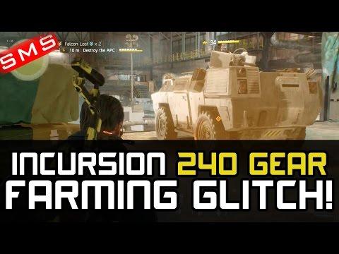The Division: FALCON LOST GLITCH 240 GEAR INCURSION LOOT CHEAT UNLIMITED GEAR!