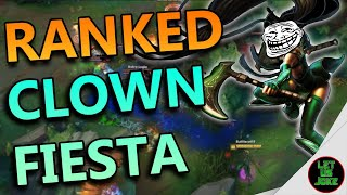 LEAGUE OF FIESTA! Rankeds in a nutshell... :D | League Of Legends Clip