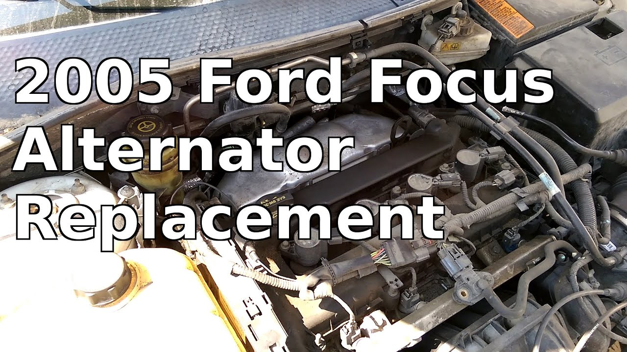2005 07 ford focus alternator replacement rh youtube com 2004 ford focus alternator wiring 2008 Ford Edge Alternator Plug