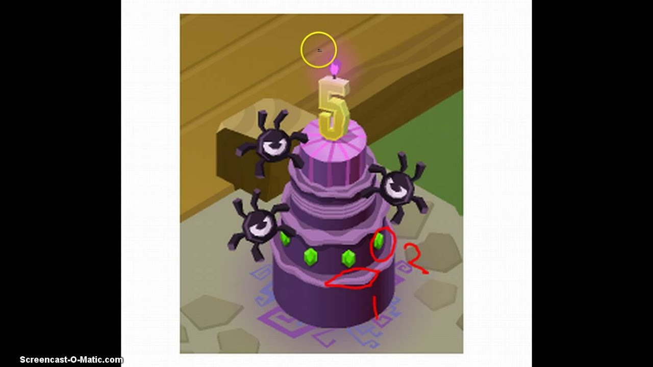 Animal Jam Interactive Birthday Cake YouTube