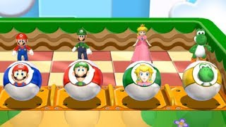 Mario Party 9 - Step It Up - Mario VS Luigi VS Peach VS Yoshi