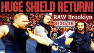 WWE RAW 8/20/18: THE RETURN OF THE SHIELD!! HHH RETURNS!! Ronda Rousey Drops Stephanie McMahon! #RAW