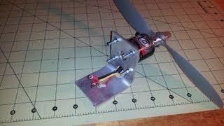 Bir motor RC uçak için mount 1/8'' ya da 3.1 mm alüminyum stok bükün nasıl