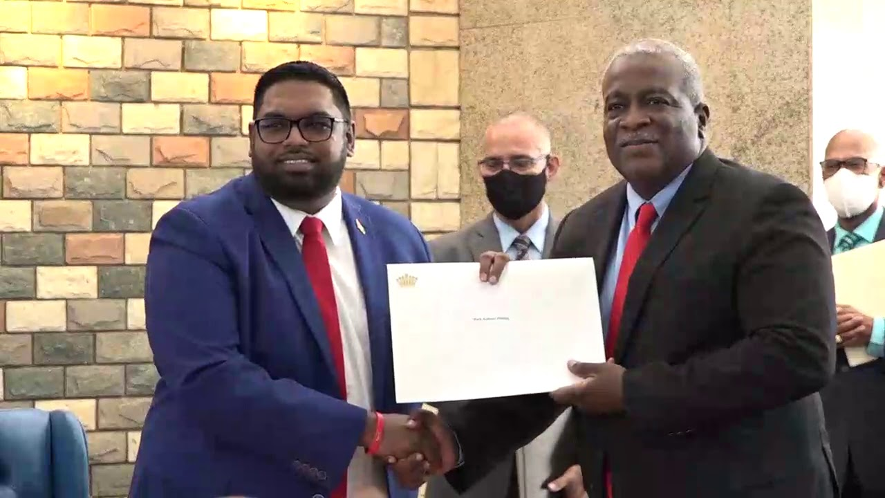 Swearing in of Dr Irfaan Ali as Tenth President August 2nd 2020
