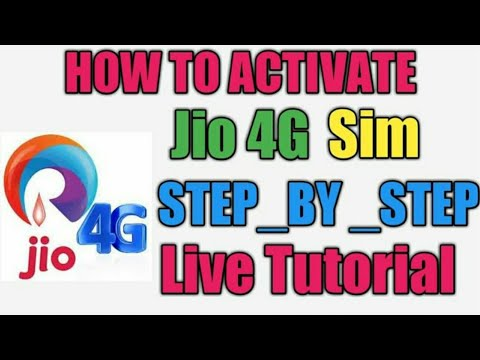 How To Activate Jio 4G Sim Live Toturial Full Process