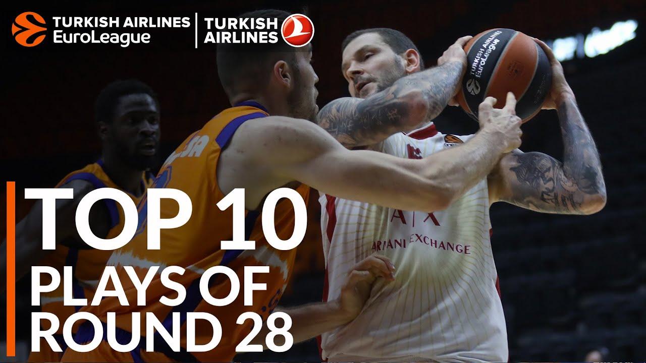 THY EuroLeague'de 28. haftanın en iyi 10 hareketi Videosu