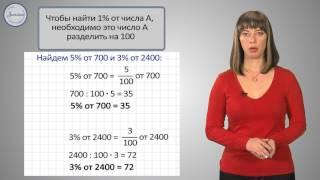 Математика 4 класс. Проценты