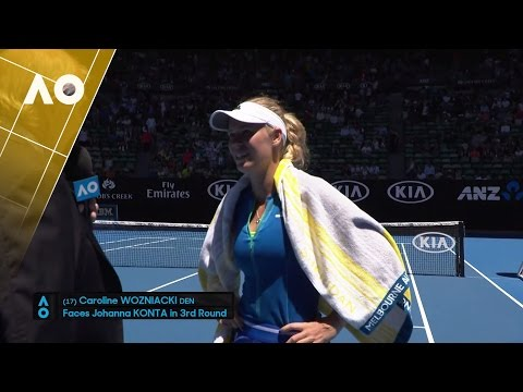 Caroline Wozniacki on court interview (2R) | Australian Open 2017