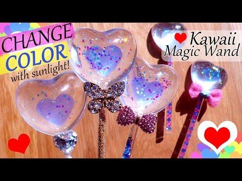 Kawaii Resin Craft Tutorial: Color Changing Heart Magic Wand + GIVEAWAY!