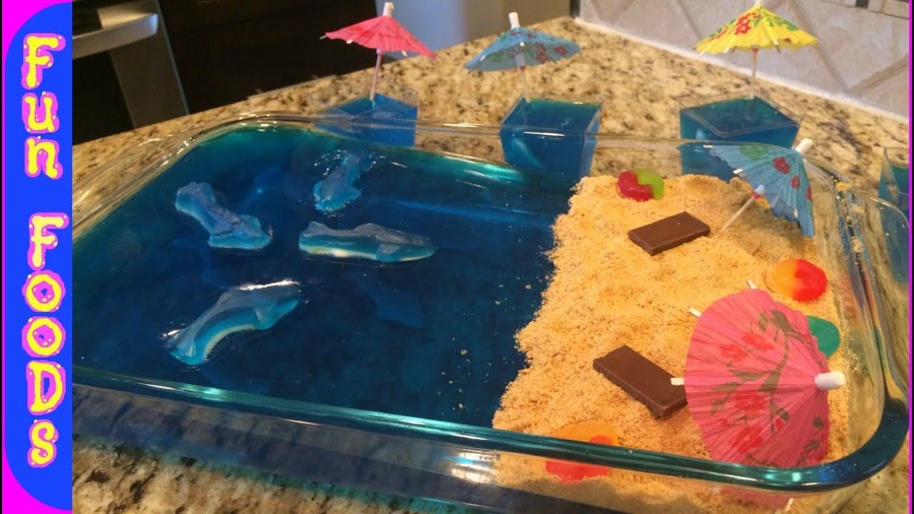 Shark Filled Jello Diy Shark Infested Jello Shark Week