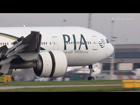 Pakistan International Airlines Boeing 777 Smooth Touch down