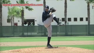 Andy Pettitte Slow Motion Pitching Mechanics - New York Yankees Pitcher Drills Tips MLB