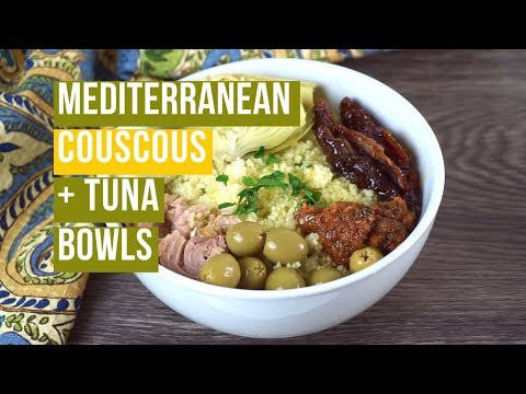 Mediterranean Couscous with Tuna and Sun-Dried Tomato Pesto
