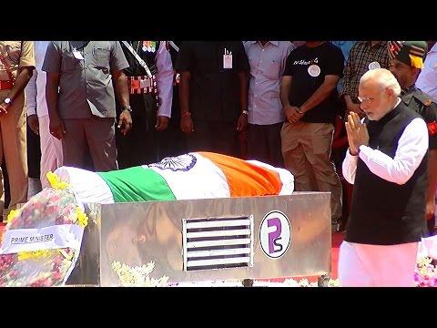 APJ Abdul Kalam's State Funeral  Full Ceremony  - Modi, Rahul, Vaiko & Vijayakanth - Must Watch