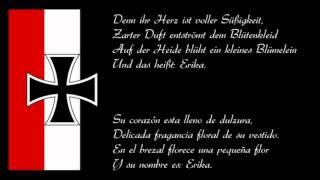 Marcha militar alemana 'Erika' (Texte in Deutsch & Español)