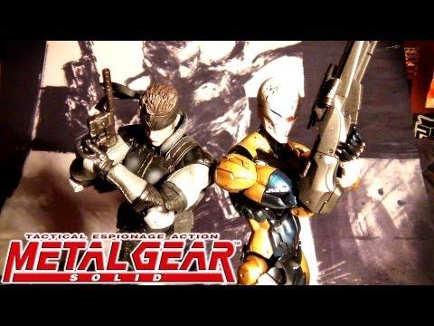 Metal Gear Solid Snake Ninja Cyborg arts kai figures UNBOXING