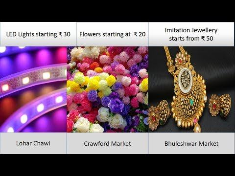 Festival Shopping at Bhuleshwar Jwellery market Lohar Chawl for LED and flower