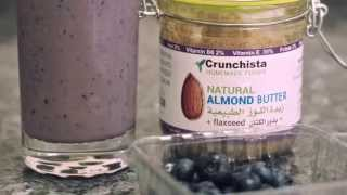 15 Sec Healthy Blueberry Almond Butter Smoothie