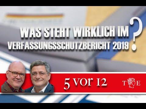 """""""5 vor 12"""": Was steht wirklich im Verfassungsschutzbericht 2019? Der Blick auf die nüchternen Zahlen"""