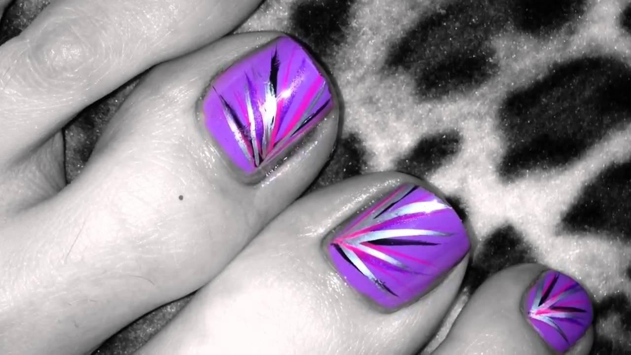 My April 2013 Toe Nail Art Pedi Designs Youtube