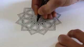 How to draw geometric patterns - practising interlacing and adding detail