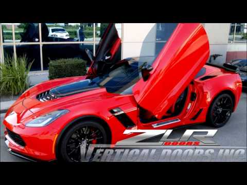 Chevrolet Corvette C7 Stingray with Lambo Door Conversion by Vertical Doors Inc. & Chevrolet Corvette C7 Stingray with Lambo Door Conversion by ...