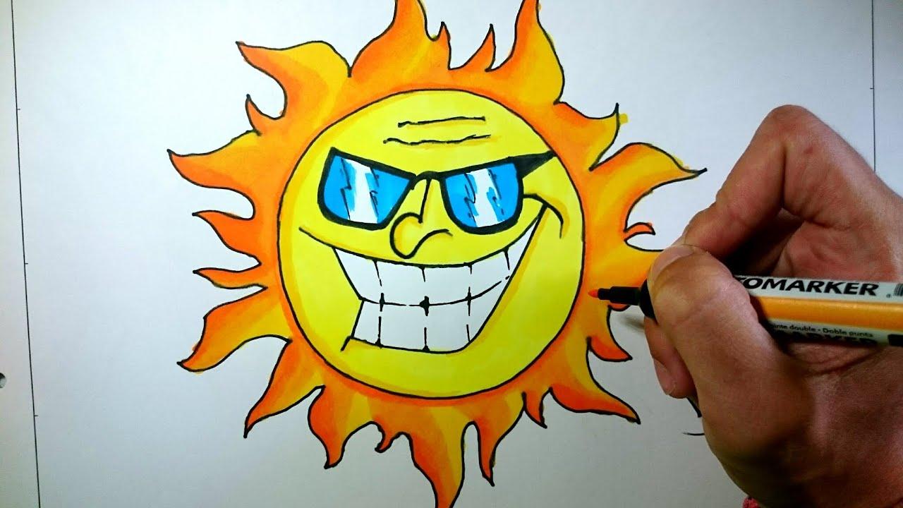 Dibujos Del Sol Para Colorear E Imprimir: Dibujos Del Sol. Free Dibujo De Puesta De Sol Para