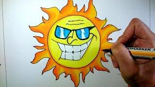 Dibuja un sol de verano