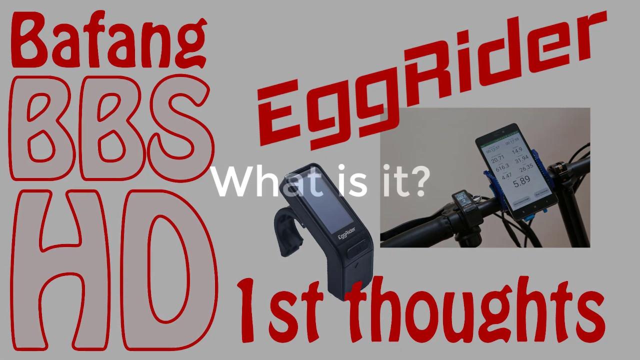 Eggrider V2 ebike Display on BBSHD - First Impressions