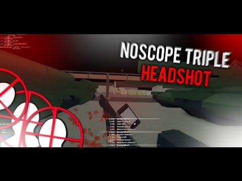 NOSCOPE TRIPLE HEADSHOT WALLBANG... (Phantom Forces)