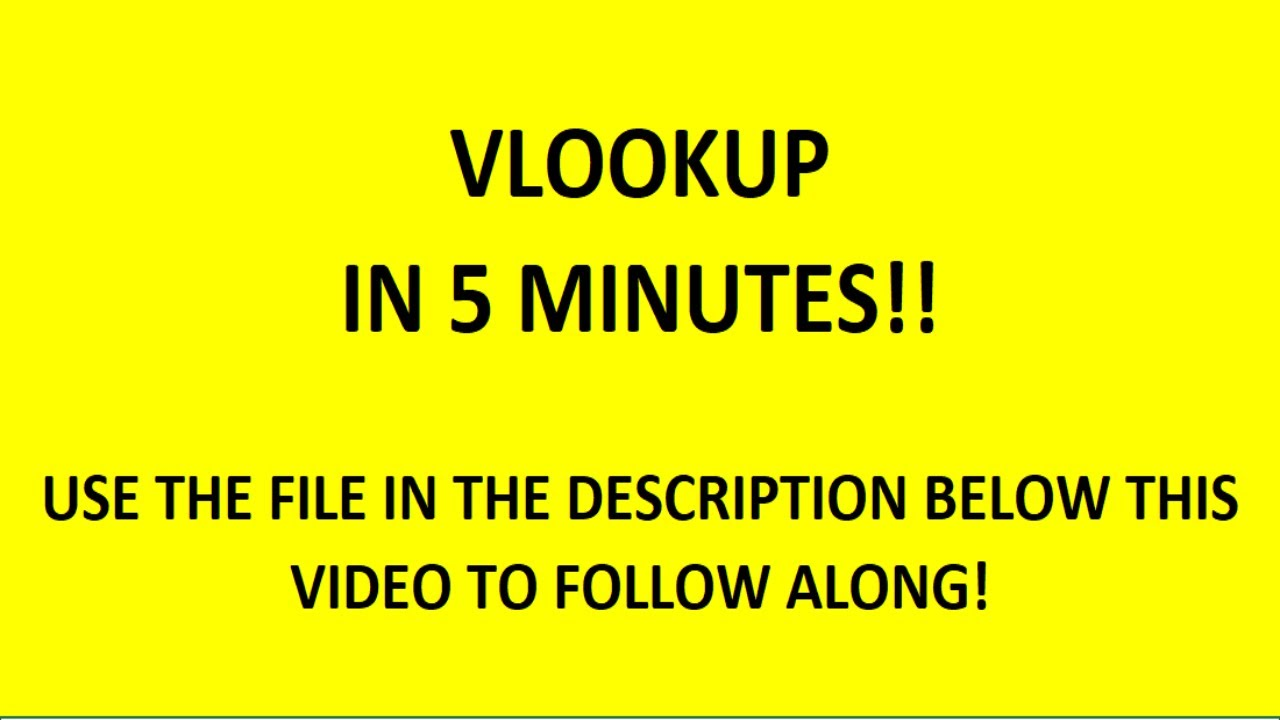 how to do a vlookup in excel learn how in 5 minutes youtube