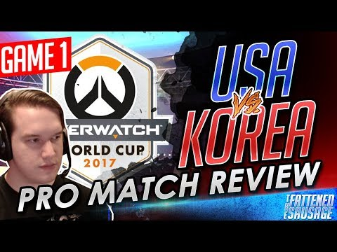 "Overwatch World Cup USA vs South Korea Match Review by Pro Player ""TaleSpin"" 