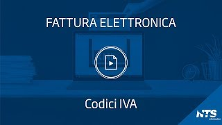 Fattura elettronica: tabelle - Codici IVA
