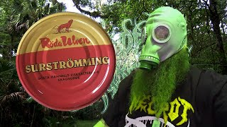 Trying surströmming in Sweden....