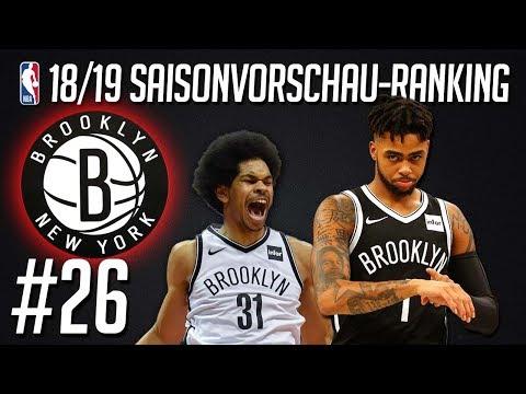 NBA 2018/19 Saisonvorschau-Ranking: #26 - BROOKLYN NETS