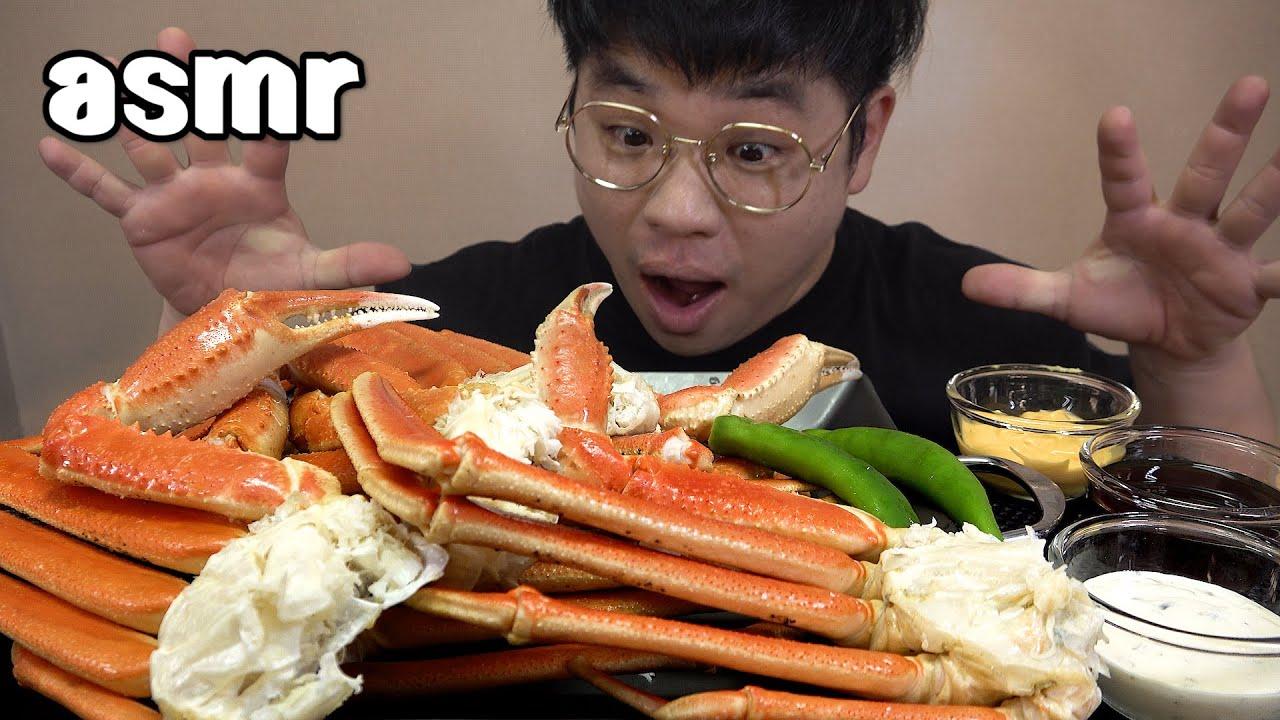먹방창배tv 스노우크랩 배터지게 먹고 라면까지 먹자 steam and eat Snow crab ramen mukbang Legend koreanfood asmr