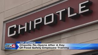 Chipotle re-opens after a day of food safety employee training