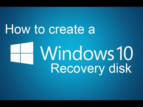 how to make windows 8.1 recovery disk
