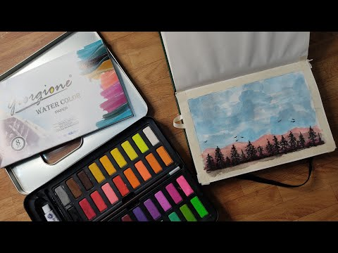 Watercolor painting landscape for beginners | Giorgione Water Color