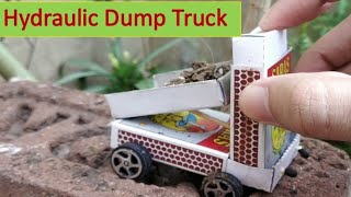 How to Make a Hydraulic Dump Truck at Home | Matchbox Mini Car for Kid | BY TRICKS AND CRAFTS |