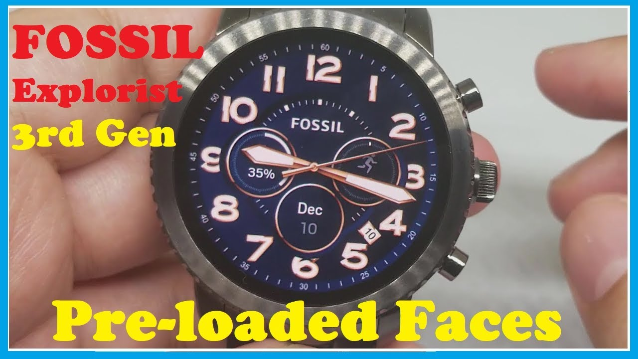Fossil Q Explorist Gen 3 Smart Watch Pre Loaded Watch Faces Of 3rd