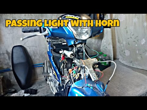 How to install passing light with horn in motorcycle | suzuki smash115