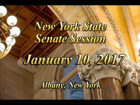 New York State Senate Session - 01/10/17