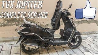 👨🔧Performing TVS Jupiter Complete Service at home!!